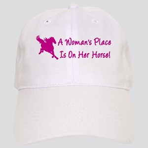 Woman's Place Is On Her Horse Cap
