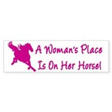 A womans place is on a horse Single