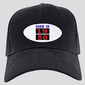 Born In 1950 Black Cap with Patch