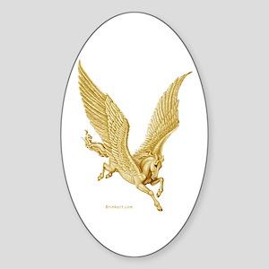 Pegasus in Flight ~ Sticker (Oval)