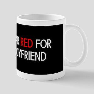 Red Ribbon: Red for my Boyfriend Mug