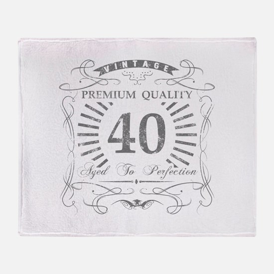 40th Birthday Gag Gift Throw Blanket
