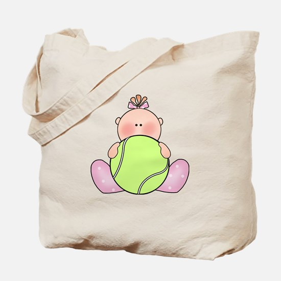 Lil Tennis Baby Girl Tote Bag