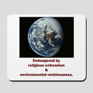 Endangered Earth Mousepad