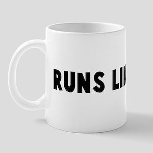 Runs like a girl Mug