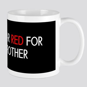 Red Ribbon: Red for my Brother Mug