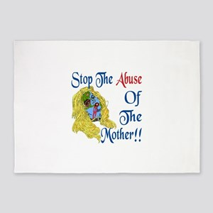 Stop the Abuse 5'x7'Area Rug
