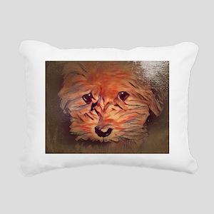 Copper the Havapookie cu Rectangular Canvas Pillow