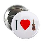 I LUV Violin Button