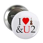 I LUV Violin and U 2 Button
