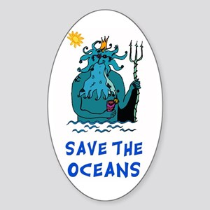 Save the Oceans Oval Sticker
