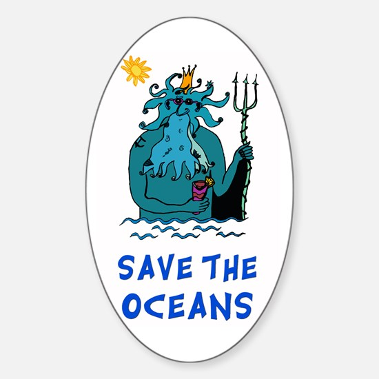 Save the Oceans Oval Decal