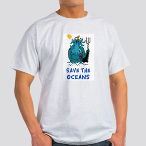 Save the Oceans Ash Grey T-Shirt