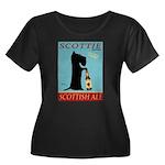 Scottie Women's Plus Size Scoop Neck Dark T-Shirt