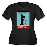Scottie Scot Women's Plus Size V-Neck Dark T-Shirt