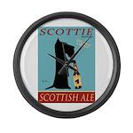 Scottie Scottish Ale Large Wall Clock