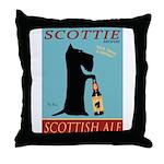 Scottie Scottish Ale Throw Pillow