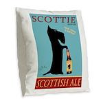 Scottie Scottish Ale Burlap Throw Pillow