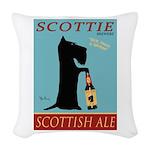 Scottie Scottish Ale Woven Throw Pillow