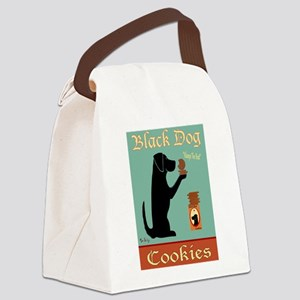 Black Dog Cookies Canvas Lunch Bag