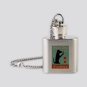 Black Dog Cookies Flask Necklace