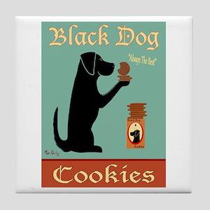 Black Dog Cookies Tile Coaster