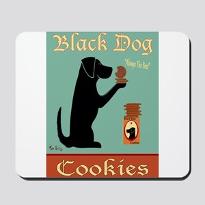 Black Dog Cookies Mousepad