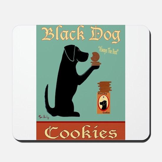 Black Dog Cookies Mousepad