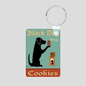 Black Dog Cookies Aluminum Photo Keychain