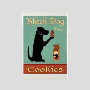 Black Dog Cookies Rectangle Magnet