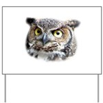 Great Horned Owl Face Yard Sign