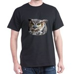 Great Horned Owl Face Dark T-Shirt
