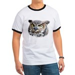 Great Horned Owl Face Ringer T