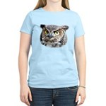 Great Horned Owl Face Women's Light T-Shirt