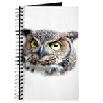 Great Horned Owl Face Journal