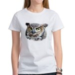 Great Horned Owl Face Women's T-Shirt