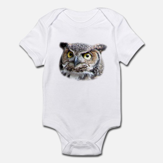Great Horned Owl Face Infant Bodysuit