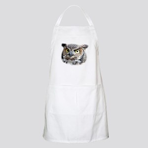 Great Horned Owl Face BBQ Apron