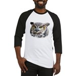 Great Horned Owl Face Baseball Jersey