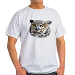 Great Horned Owl Face Light T-Shirt