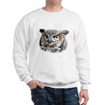Great Horned Owl Face Sweatshirt