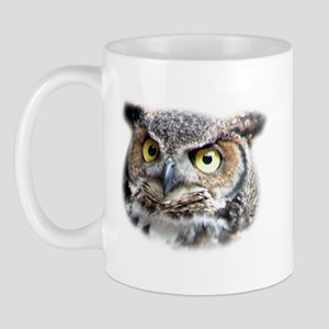 Great Horned Owl Face Mug