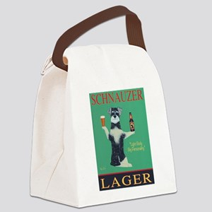 Schnauzer Lager Canvas Lunch Bag