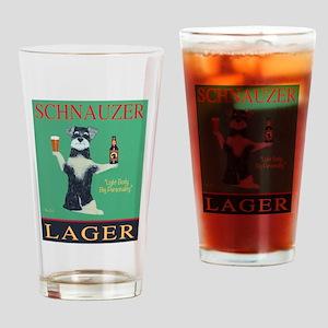 Schnauzer Lager Drinking Glass