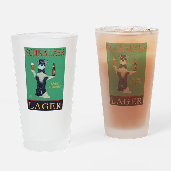 Schnauzer Lager Drinking Glass