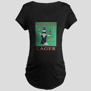 Schnauzer Lager Maternity Dark T-Shirt