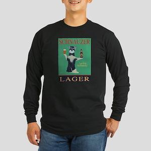 Schnauzer Lager Long Sleeve Dark T-Shirt