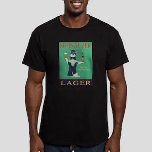 Schnauzer Lager Men's Fitted T-Shirt (dark)