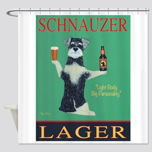 Schnauzer Lager Shower Curtain