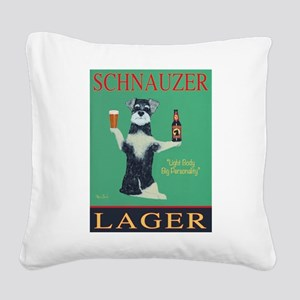 Schnauzer Lager Square Canvas Pillow